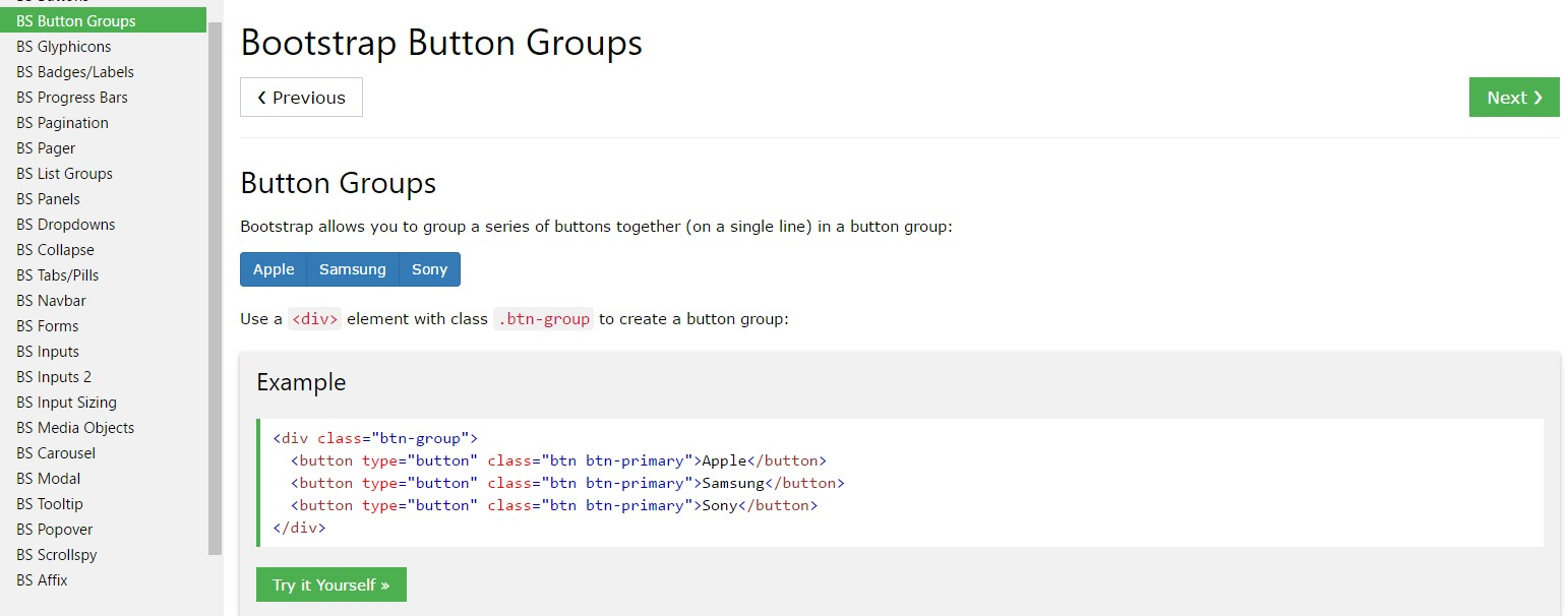Bootstrap button group tutorial